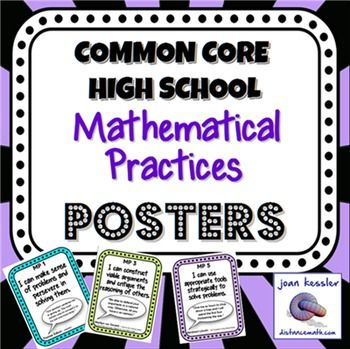 Standards for Mathematical Practice Posters with Famous Quotes.Introducing the Common Core State Standards to your students is no easy task. These posters provide a simple and effective way to illustrate to your students the Mathematical Practices which they can strive for in their understanding of mathematical concepts.