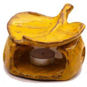 Na zamówienie - Ceramiczny kominek na olejki eteryczne. Wystarczy zapalić podgrzewacz ustawiony wewnątrz, a na listek wlać kilka kropli olejku zapachowego i wodę. wysokość-10cm, średnica-13cm. polecam i zapraszam do mojej galerii