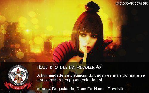 Hoje É O Dia Da Revolução - A humanidade se distanciando cada vez mais do mar e se aproximando perigosamente do sol.
