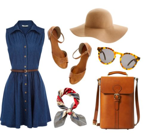 On a rainy day like today I cannot help but think of a summer picnic outfit.