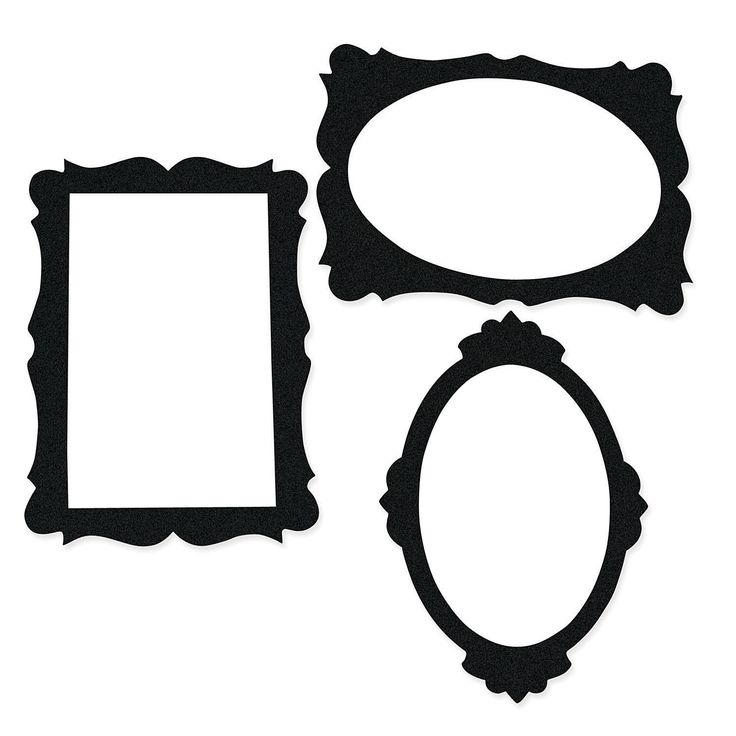 Black Picture Frame Cutouts - OrientalTrading.com