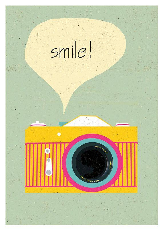 Camera print Polaroid poster Retro poster by sillyretroprints