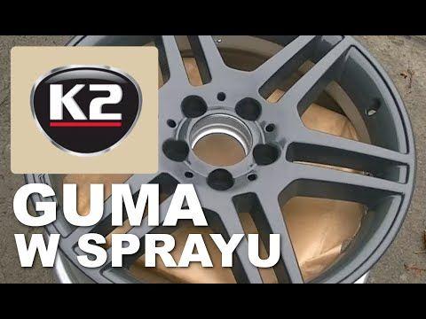Guma w sprayu - K2 Color flex, zmiana koloru felg, zmiana koloru auta - YouTube