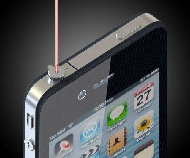 iPin Mobile-Powered Laser Pointer | DudeIWantThat.com