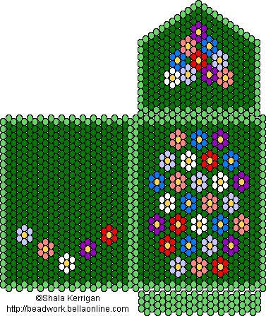 peyote amulet bags | Amulet bag pattern, worked in tubular peyote.