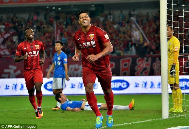 Hulk plays for Shanghai SIPG and is the fourth-highest paid footballer on the planet