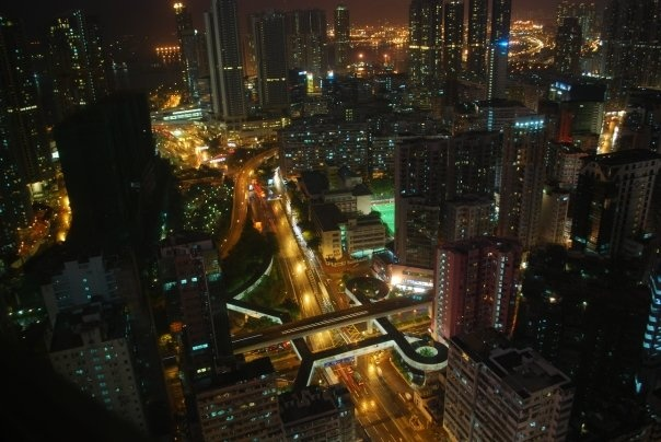 Hong Kong - view from the 48th floor of Langham