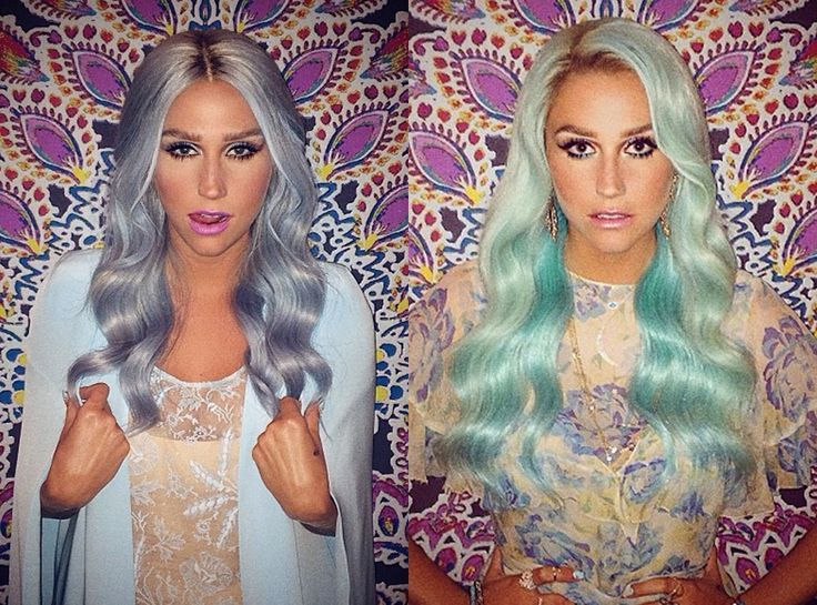"Idée Couleur & Coiffure Femme 2017/ 2018 :    Description   Kesha from Celebrities' Changing Hair Color Kesha is determined to make ""chlorine green"" hair a thing! The star dyed her hair powder blue and then quickly followed up with this shade of pale green.    - #Coiffure https://madame.tn/beaute/coiffure/idee-couleur-changing-hair-color-kesha-is-determined-to-make-quo/"