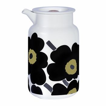 It's not every day that an iconic pattern turns 50 years old, so it's only fitting that this unique piece serve to celebrate half a century filled with Maija Isola's 1964 poppies. Marimekko Black Unikko Container – Special Anniversary Edition - $65