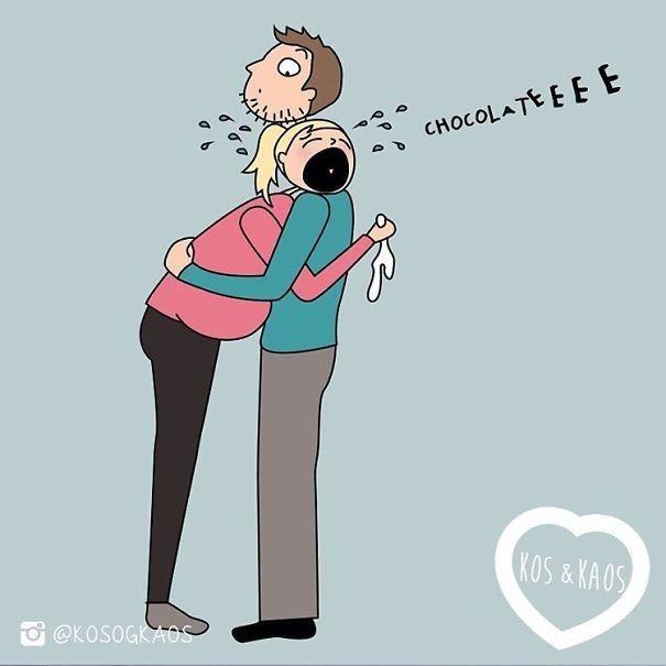 Diese Cartoons Einer Mutter Zeigen Perfekt Wie Es Ist Schwanger Zu Sein
