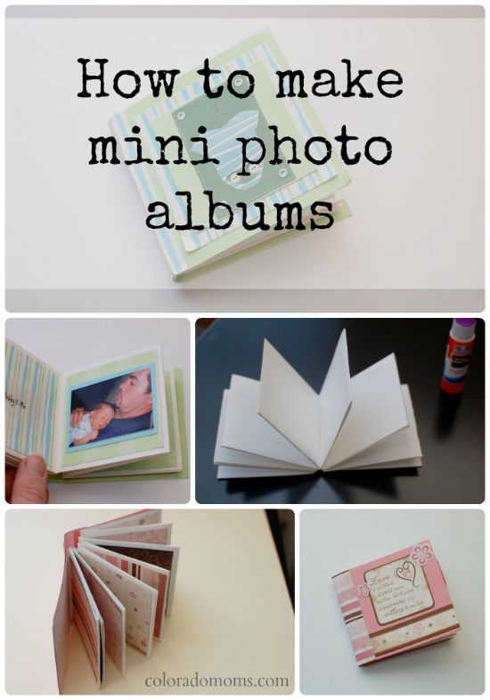 Mini photo albums are the perfect way to store memories in small spaces!