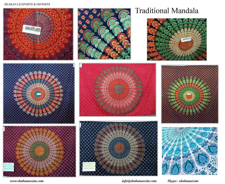 Mandala printed napthol bed sheets