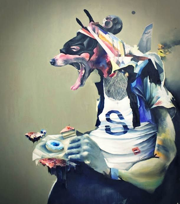 Animal Instinct – 18 peintures de Joram Roukes