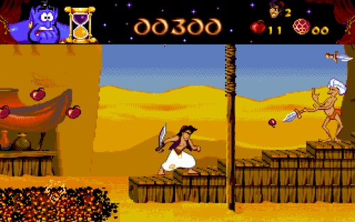 Aladdin. I was so addicted playing this on my Sega Genesis.