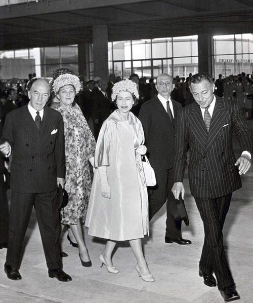 Gianni Agnelli, with Queen Elizabeth