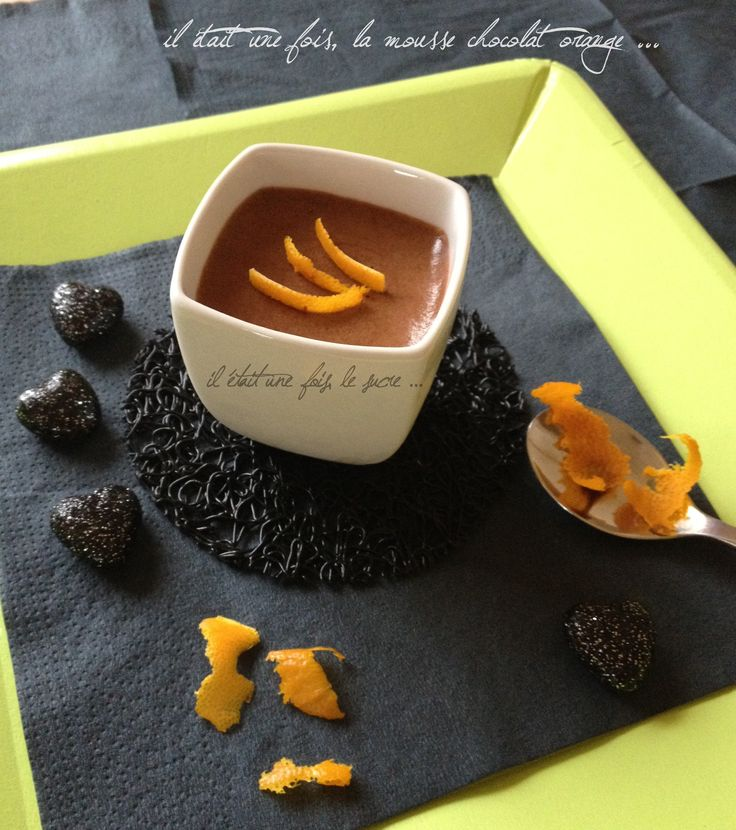 Mousse chocolat orange