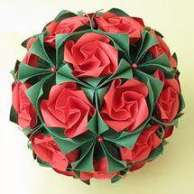 Кусудамы оригами схемы роза.
