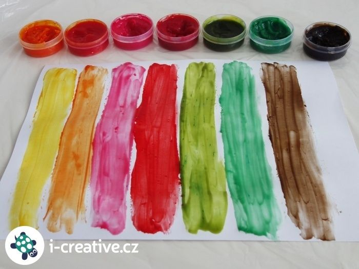 prstové barvy návod