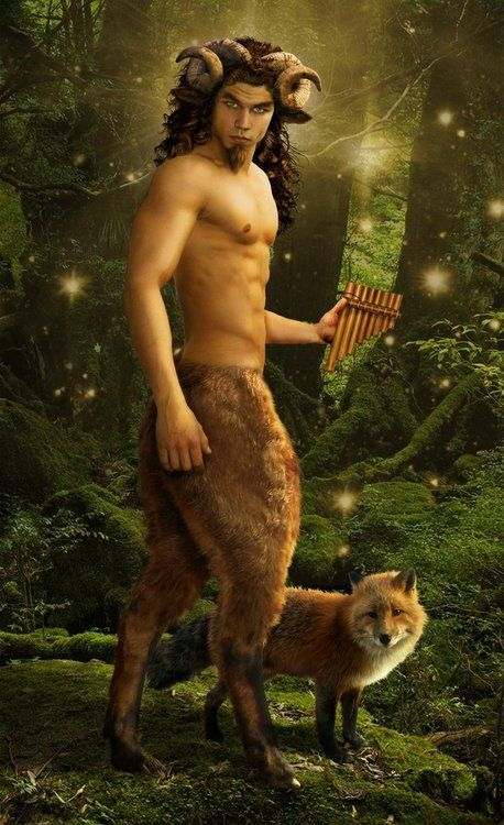 """Pan is the god of the wild, shepherds and flocks, nature of mountain wilds, hunting and rustic music, and companion of the nymphs.""""He has the hindquarters, legs, and horns of a goat, in the same manner as a faun or satyr. With his homeland in rustic Arcadia, he is recognized as the god of fields, groves, and wooded glens; because of this, Pan is connected to fertility and the season of spring. The ancient Greeks also considered Pan to be the god of theatrical criticism."""