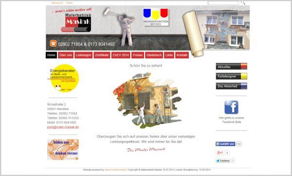 Homepage Maler  ww.maler-masiak.de
