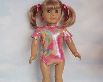 18 inch doll clothes - #107 Tye Dye Gymnastic Leotard handmade to fit the American Girl Doll - FREE SHIPPING