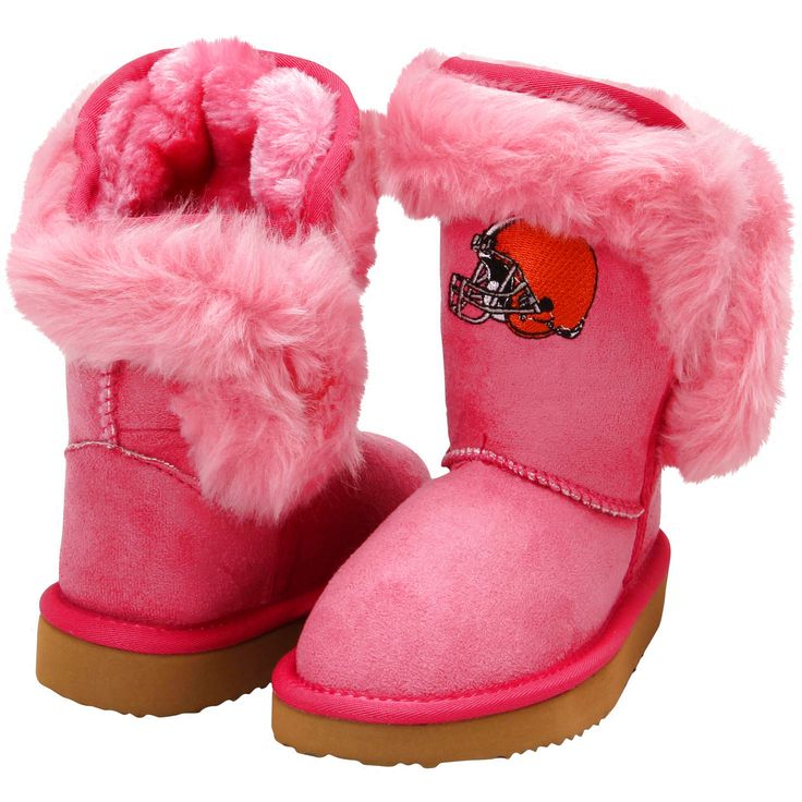 Cuce Cleveland Browns Historic Logo Toddler Girls Mini-Me Fanatic Boots - Pink - $46.54