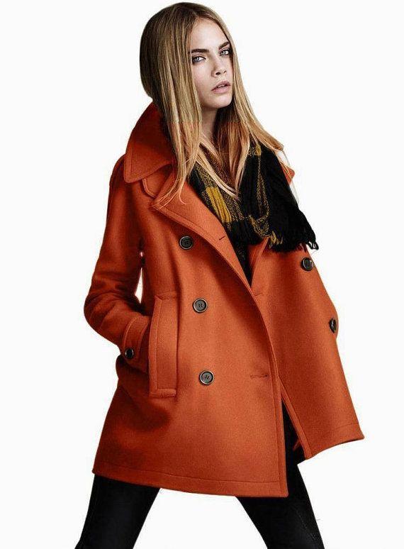 Orange wool coat | Materialistic | Pinterest | Coat, Fashion and Jackets
