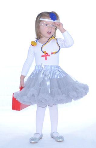 farsangi jelmez ezüst  pettiskirt tütü nurse costum nővérke orvos doki fancy dress jelmez