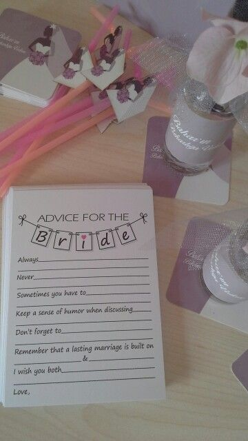 Fun, advise for the bride, bridal shower, decoration, bekarlığa veda, parti, wish card, dilek kartı