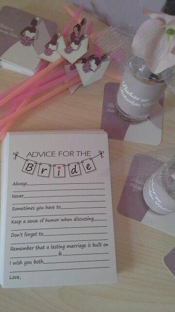 Fun, advise for the bride, bridal shower, decoration, bekarlığa veda, parti, wish card, dilek kartı