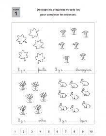 Fiches maths-français GS : l'automne 12 fiches de mathématiques et de maîtrise de la langue à destination des GS, sur le thème de l'automne.