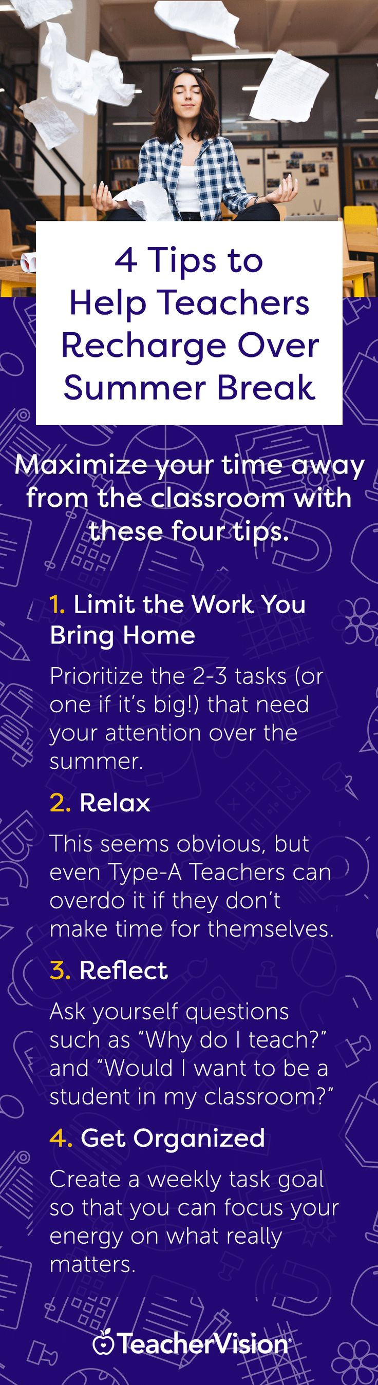 Maximize your time away from the classroom with these 4 tips. (Read the full article on TeacherVision's new blog!)