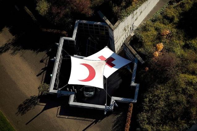 Siège du Comité international de la Croix-Rouge, Genève, Suisse (46°12'N – 6°09'E).