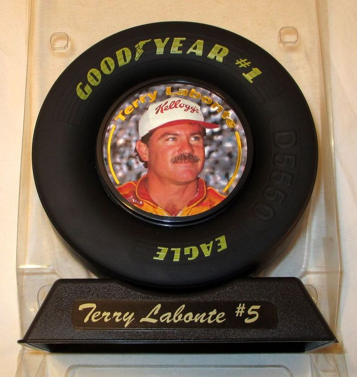 Vintage Nascar Collectible Terry Labonte Photo Good Year Tire Trophy Frame NEW