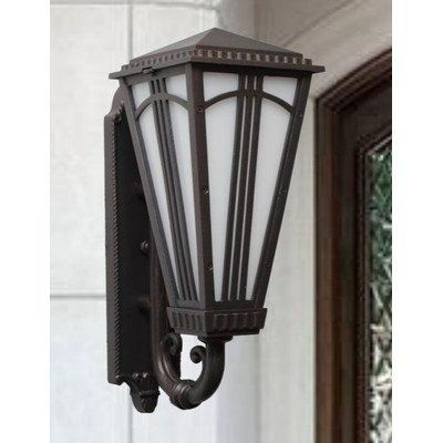 """Parisian PE4400 Series 34"""" Wall Lantern Finish: White by Melissa Lighting. $686.99. PE449003-WH Finish: White Features: -Wall lantern.-Opal glass panel.-Electronic ballast EBPL:13-26-32-42(four pin).-UL listed. Options: -Available in Black, White, Old Iron, Architectural Bronze, Rusty Nail, Old Bronze, Old World, Aged Silver, Patina Bronze and Old Copper finishes. Construction: -Cast aluminum construction. Specifications: -Accommodates (2) 75W Edison Base bulbs. Dimensions: -Over..."""