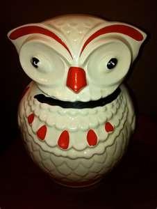 Owl Cookie Jar.  He looks patriotic to me