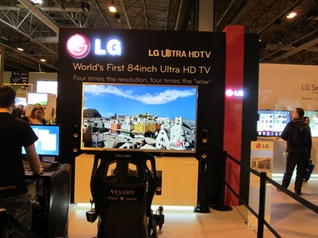 We first saw LG's 84inch Ultra HDTV at CES, but the picture seems even more impressive from Gadget Show Live.