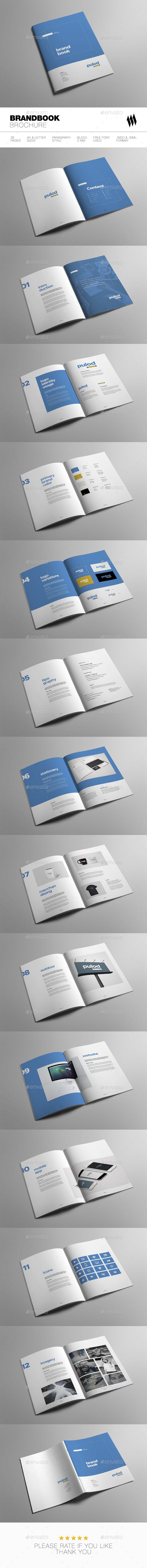Minimal Brand Book 28 Pages Template InDesign INDD