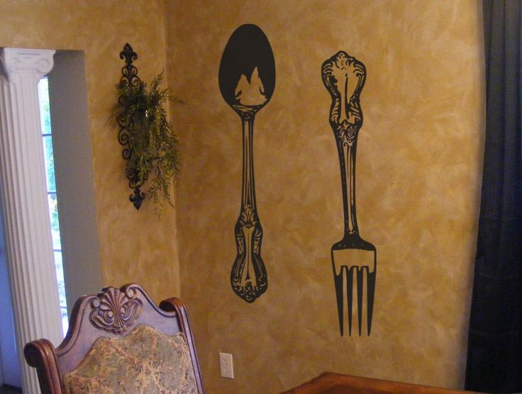 Best Kitchen Vinyl Images On Pinterest Kitchen Vinyl Kitchen - Wall stickers for dining roomdining room wall decals wall decal knife spoon fork wall decal