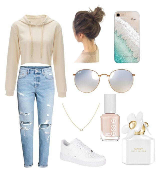 """""""Untitled #18"""" by alisha-marley on Polyvore featuring NIKE, Ray-Ban, Gray Malin, Marc Jacobs and Essie"""