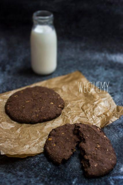 Wegańskie, bezglutenowe czekoladowe ciastka z ciecierzycy // Vegan, gluten-free chickpea chocolate cookies