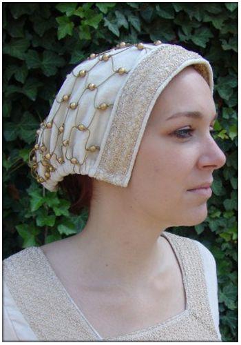 Haube mit Haarnetz, natur von Leonardo Carbone