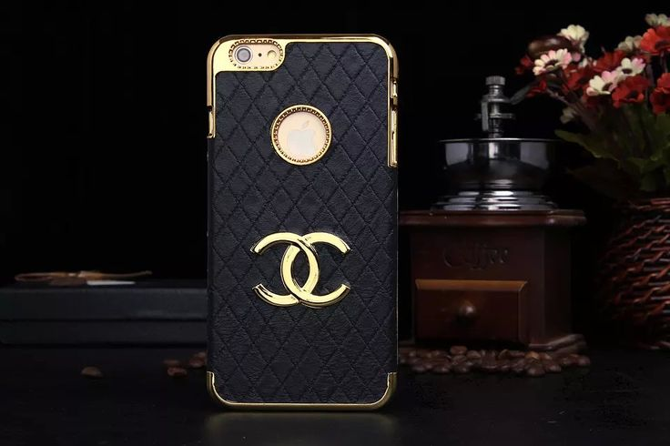 Sale Chanel iPhone 6 Cases - Black Apple Store 205 - LeatheriPhone6Cases.com