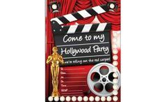 FREE Hollywood party Printable Invitation. PDF