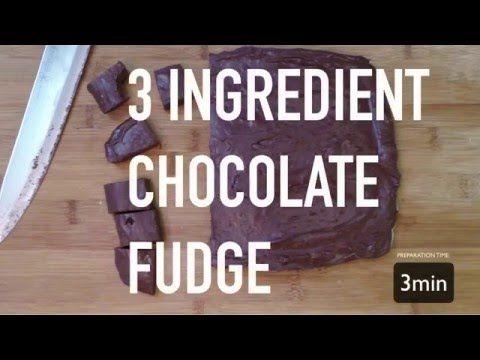 3 Ingredient Easy Chocolate Fudge
