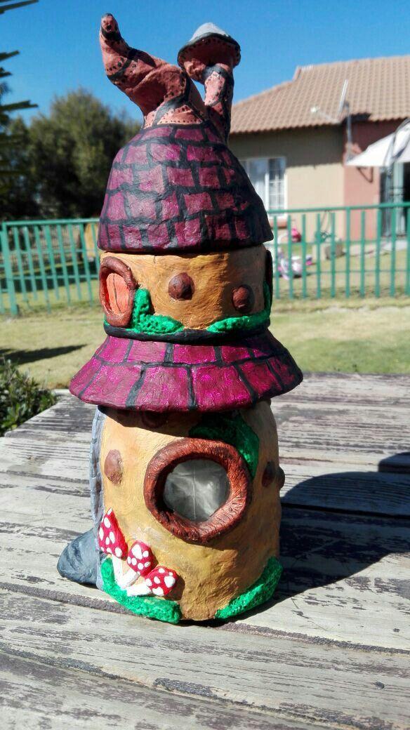 The double story fairy house #handmade #Miniaturehouses #cutestorage #claywork