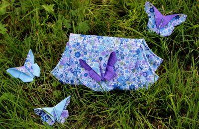 Pochette Carla et jolis papillons