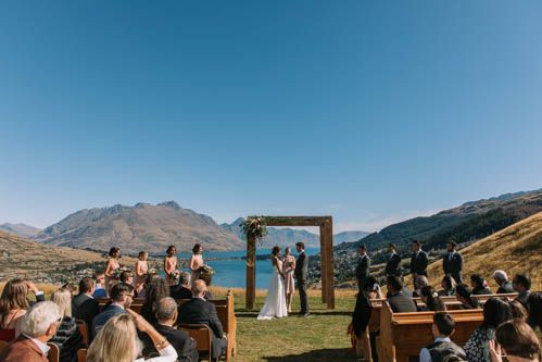 Queenstown Celebrant - Queenstown wedding with a view of Lake Wakatipu at NZ High Country Station