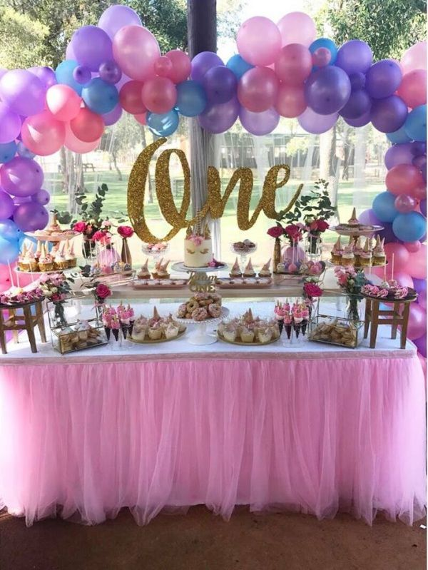 Magical Unicorn First Birthday Party Birthday Party Ideas For Kids First Birthday Party Decorations 1st Birthday Party Decorations First Birthday Decorations