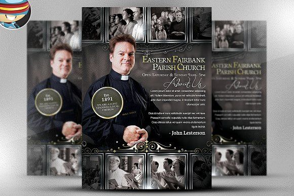 Parish Flyer Template by FlyerHeroes on @creativemarket